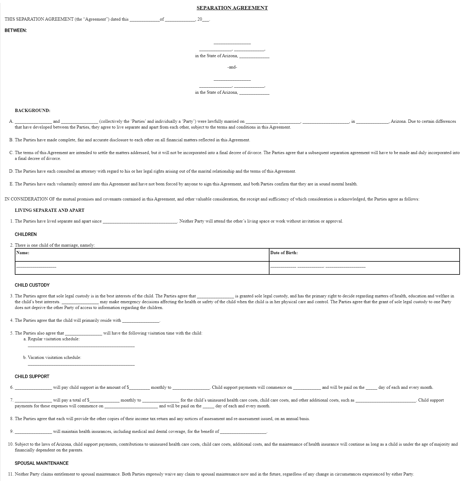 Legal Separation Agreement Template from mk0formslegals51qihq.kinstacdn.com