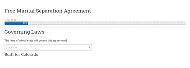 Colorado Separation Agreement